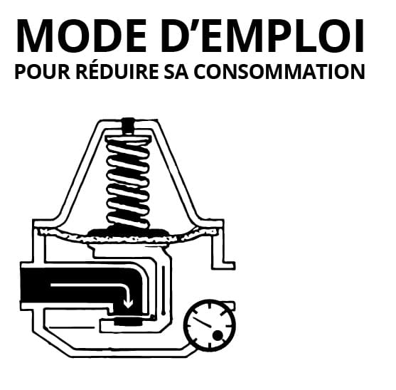 réducteur de pression d'eau - schéma